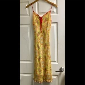Laundry by shelli segal yellow silk dress size 8